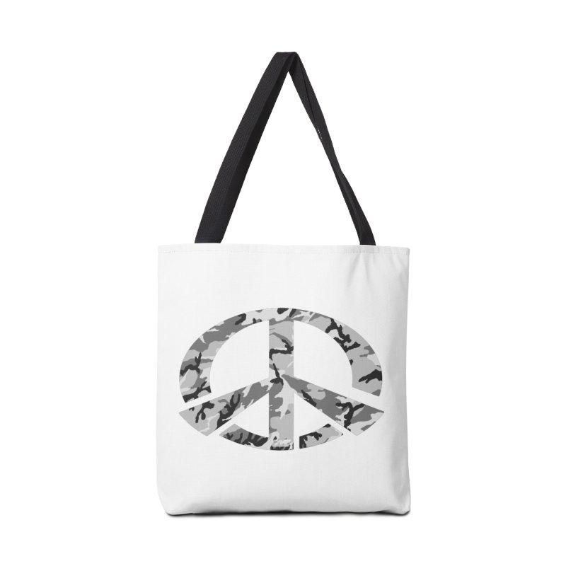 Peace - Snow Camo Edition Accessories Tote Bag Bag by uniquego's Artist Shop