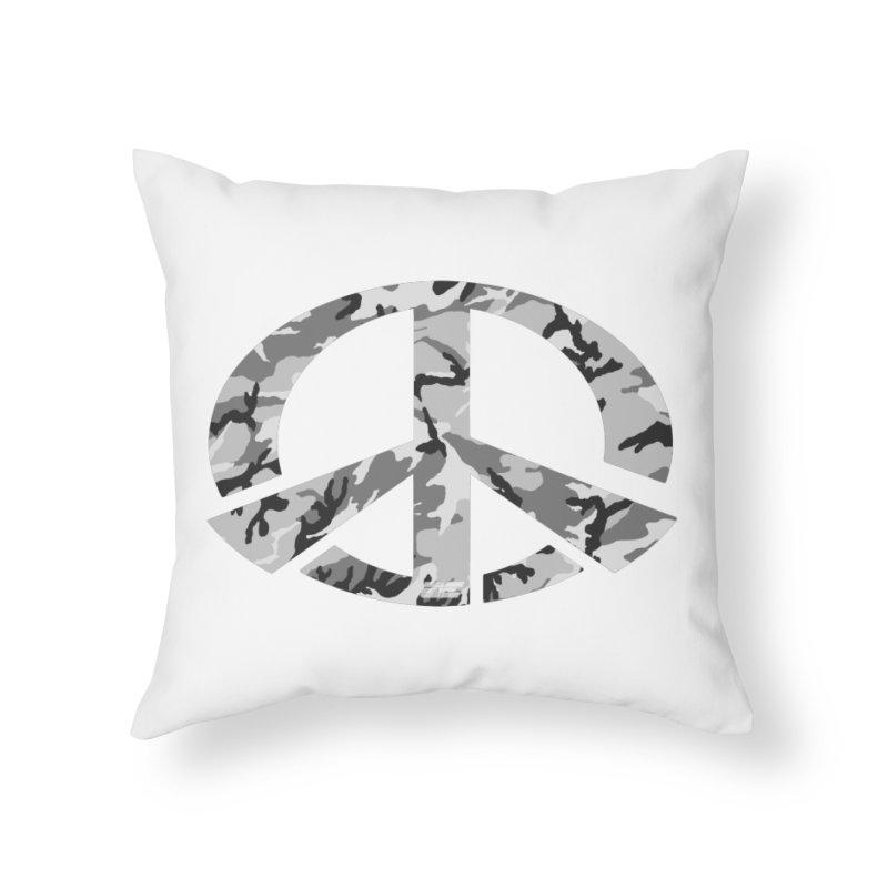 Peace - Snow Camo Edition Home Throw Pillow by uniquego's Artist Shop