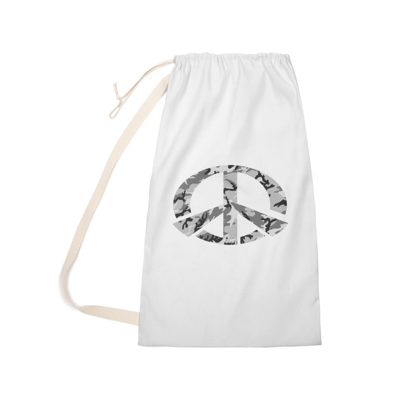 Peace - Snow Camo Edition Accessories Laundry Bag Bag by uniquego's Artist Shop