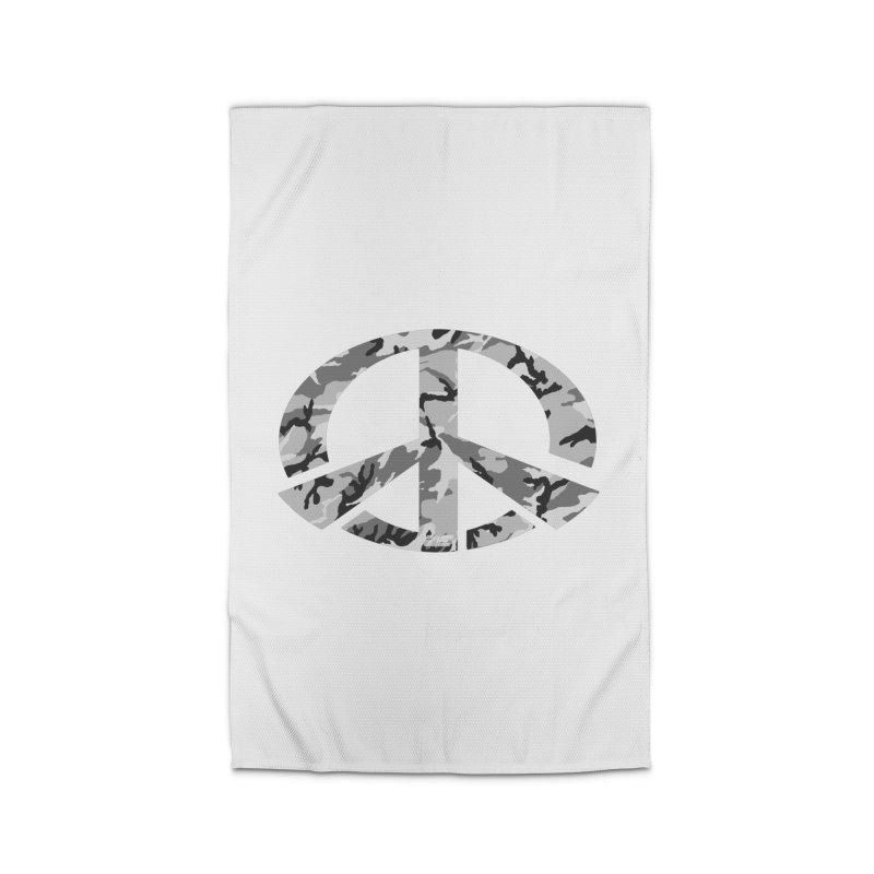 Peace - Snow Camo Edition Home Rug by uniquego's Artist Shop