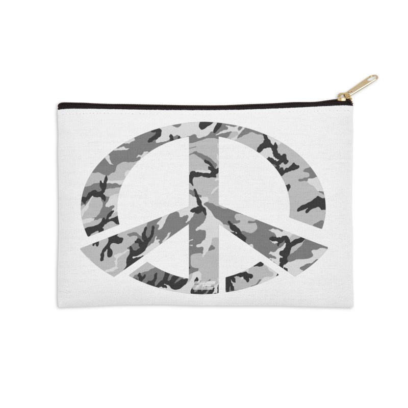 Peace - Snow Camo Edition Accessories Zip Pouch by uniquego's Artist Shop