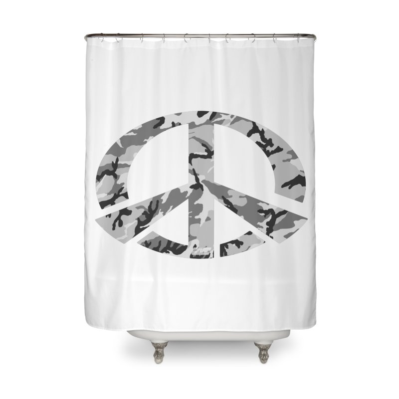 Peace - Snow Camo Edition Home Shower Curtain by uniquego's Artist Shop