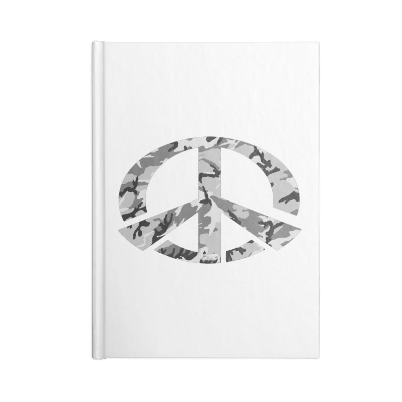 Peace - Snow Camo Edition Accessories Blank Journal Notebook by uniquego's Artist Shop