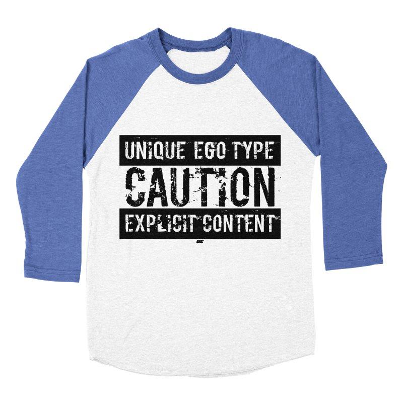 Unique Ego Type - Explicit Content Edition Men's Baseball Triblend Longsleeve T-Shirt by uniquego's Artist Shop