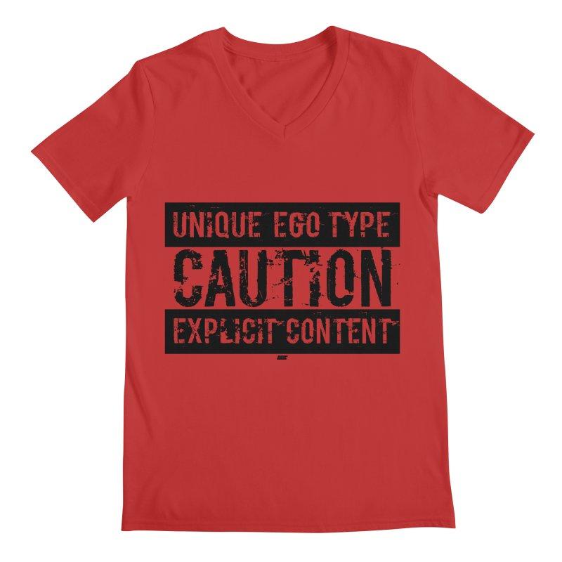 Unique Ego Type - Explicit Content Edition Men's Regular V-Neck by uniquego's Artist Shop