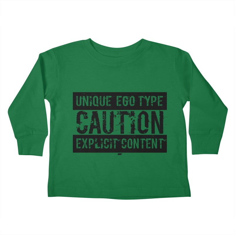 Unique Ego Type - Explicit Content Edition Kids Toddler Longsleeve T-Shirt by uniquego's Artist Shop