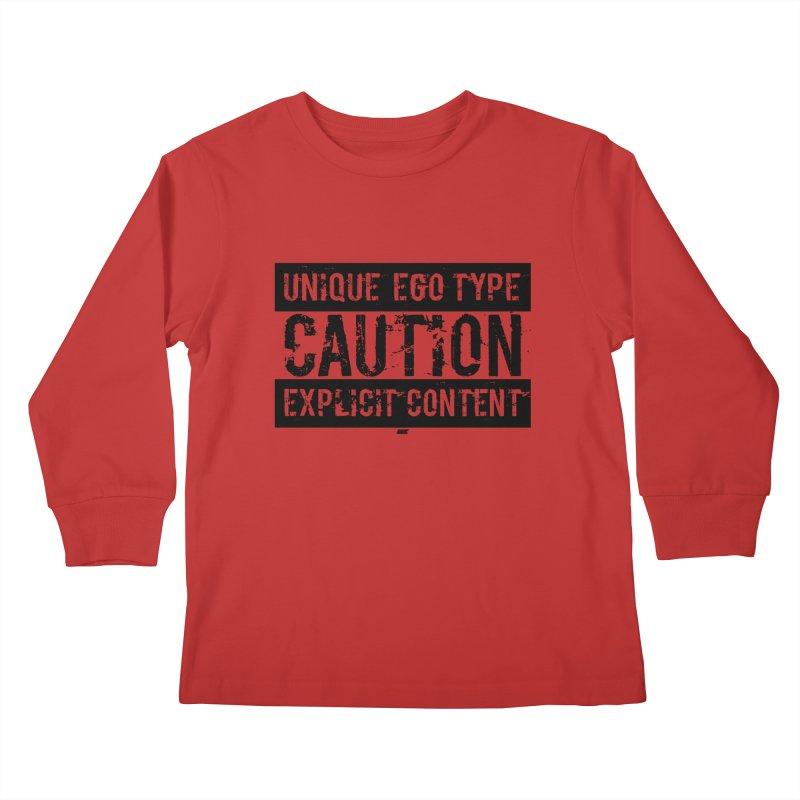 Unique Ego Type - Explicit Content Edition Kids Longsleeve T-Shirt by uniquego's Artist Shop