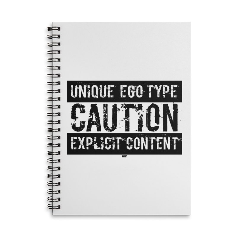 Unique Ego Type - Explicit Content Edition Accessories Lined Spiral Notebook by uniquego's Artist Shop