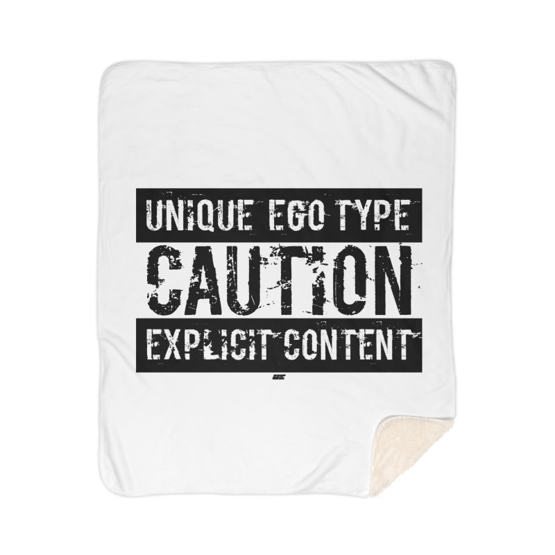 Unique Ego Type - Explicit Content Edition Home Sherpa Blanket Blanket by uniquego's Artist Shop