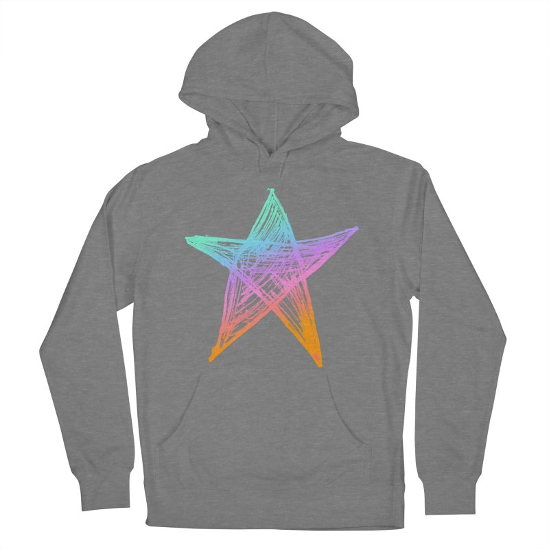 Like A Star Men's French Terry Pullover Hoody by uniquego's Artist Shop