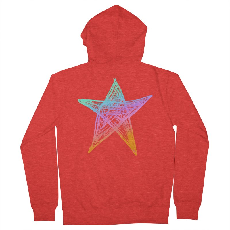 Like A Star Men's Zip-Up Hoody by uniquego's Artist Shop