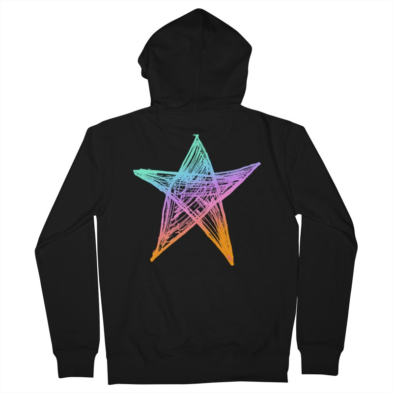 Like A Star Men's French Terry Zip-Up Hoody by uniquego's Artist Shop