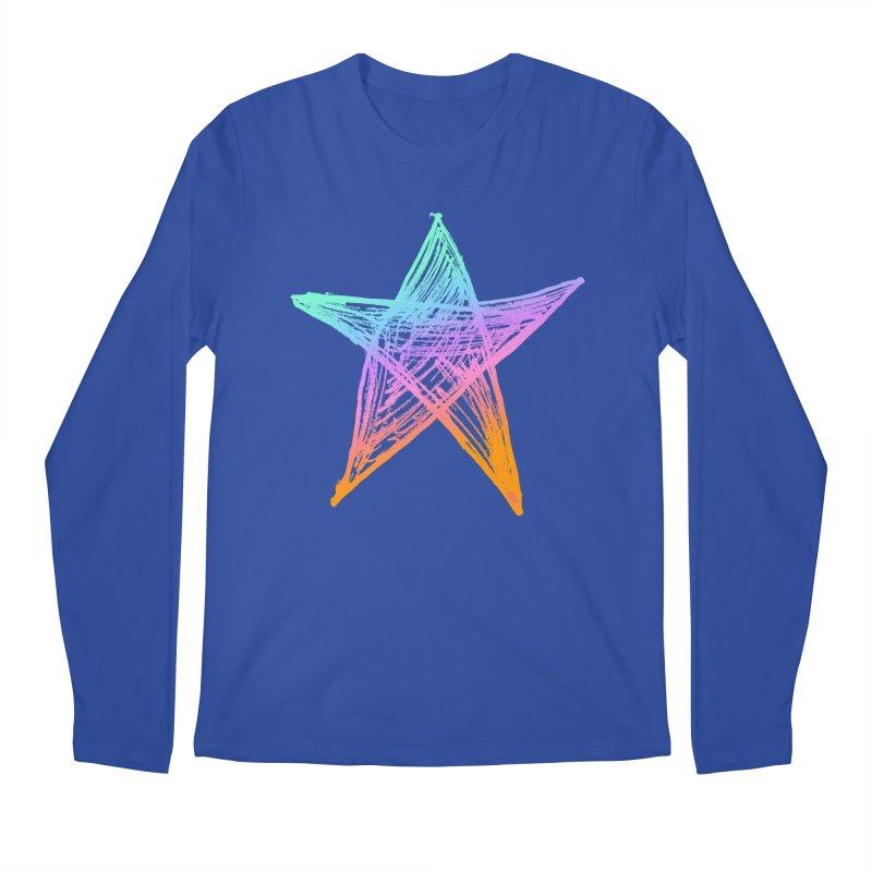 Like A Star Men's Regular Longsleeve T-Shirt by uniquego's Artist Shop