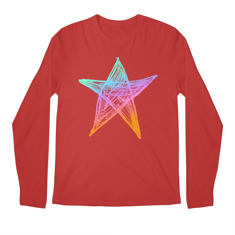 Like A Star Men's Regular Longsleeve T-Shirt by uniquego's Artist Shop
