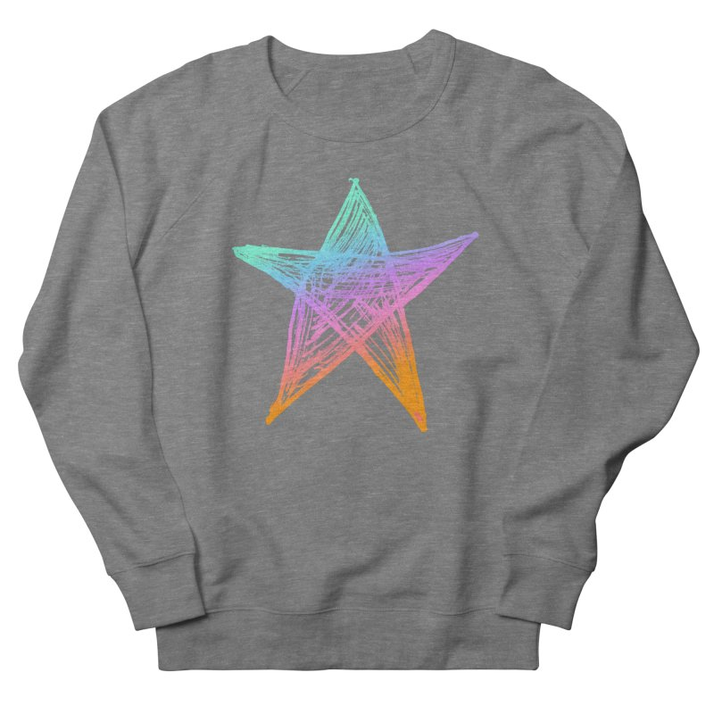 Like A Star Men's French Terry Sweatshirt by uniquego's Artist Shop