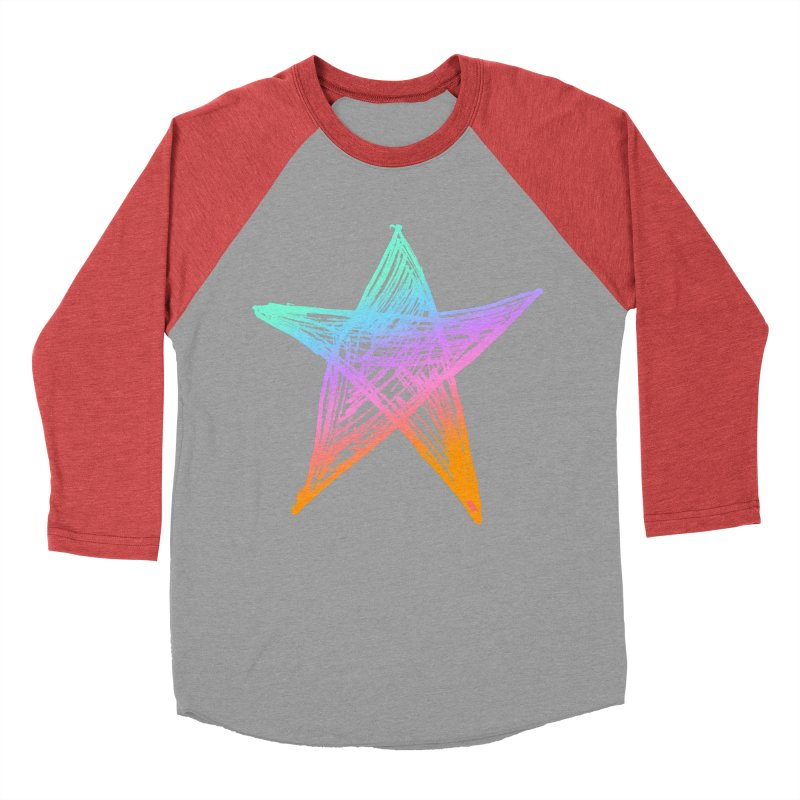 Like A Star Men's Baseball Triblend Longsleeve T-Shirt by uniquego's Artist Shop