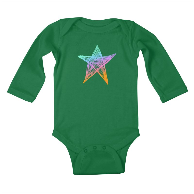 Like A Star Kids Baby Longsleeve Bodysuit by uniquego's Artist Shop