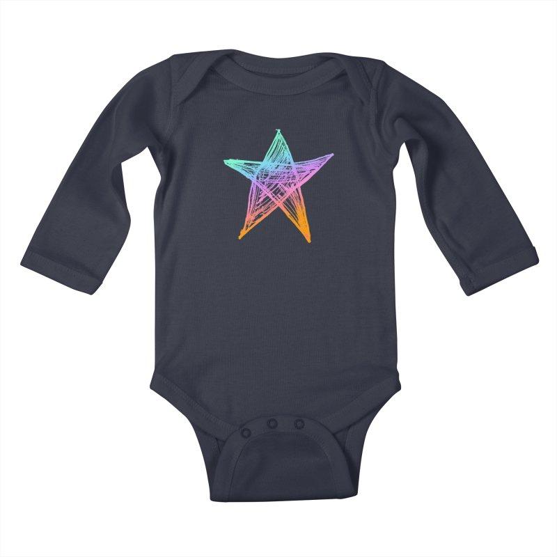 Like A Star Kids Baby Longsleeve Bodysuit by uniquego's Artist Shop
