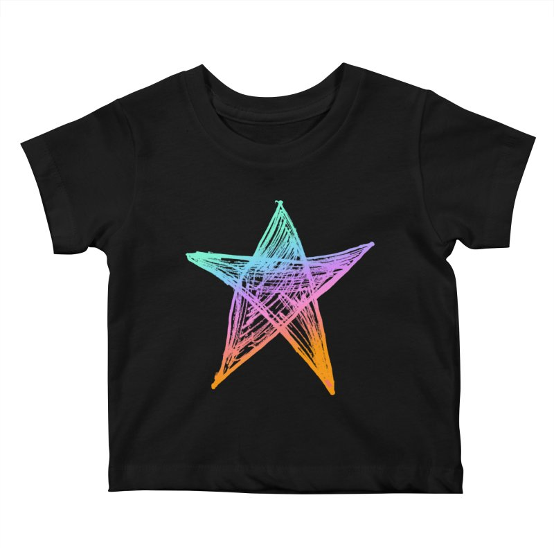 Like A Star Kids Baby T-Shirt by uniquego's Artist Shop