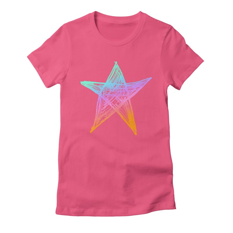 Like A Star Women's T-Shirt by uniquego's Artist Shop
