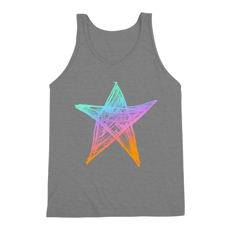 Like A Star Men's Triblend Tank by uniquego's Artist Shop