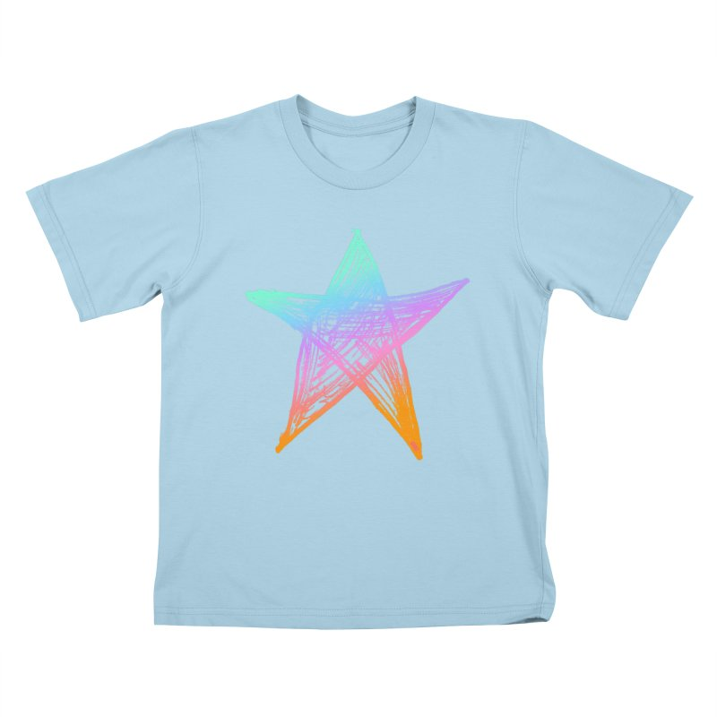 Like A Star Kids T-Shirt by uniquego's Artist Shop