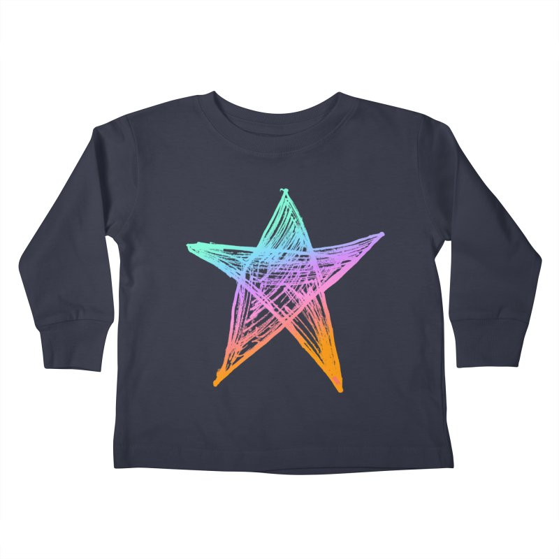 Like A Star Kids Toddler Longsleeve T-Shirt by uniquego's Artist Shop