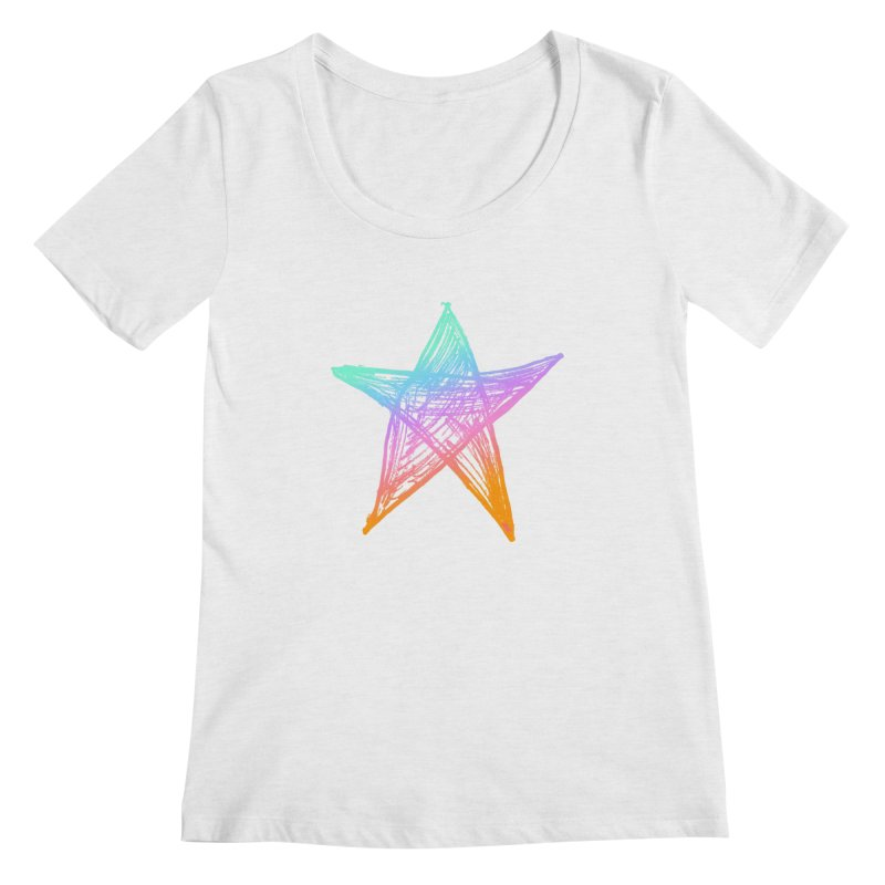 Like A Star Women's Regular Scoop Neck by uniquego's Artist Shop