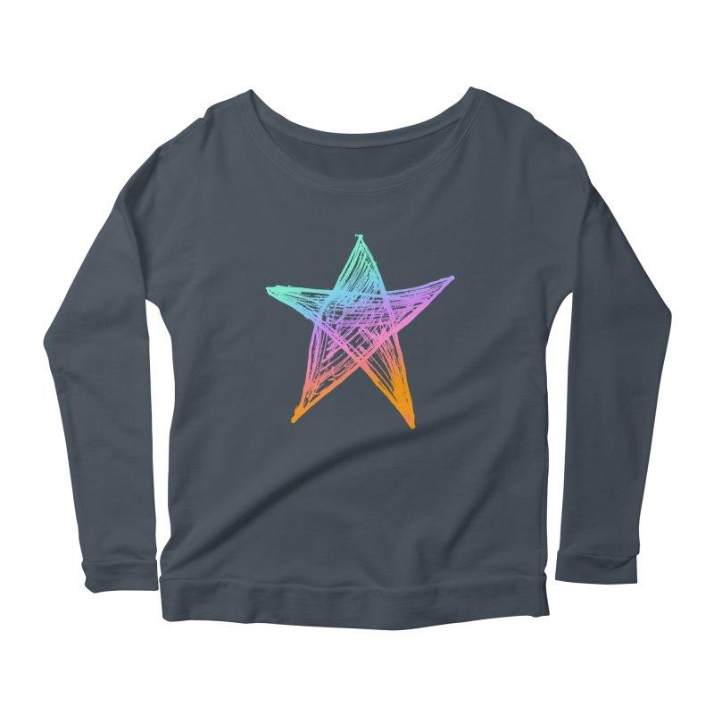 Like A Star Women's Scoop Neck Longsleeve T-Shirt by uniquego's Artist Shop