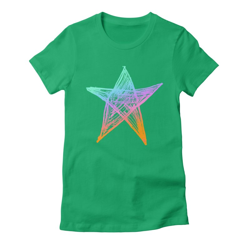 Like A Star Women's Fitted T-Shirt by uniquego's Artist Shop