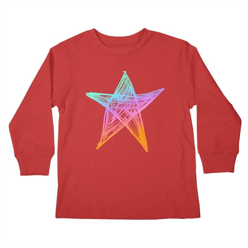 Like A Star Kids Longsleeve T-Shirt by uniquego's Artist Shop