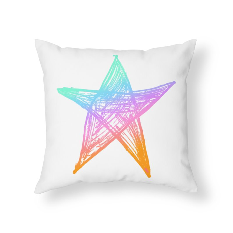 Like A Star Home Throw Pillow by uniquego's Artist Shop