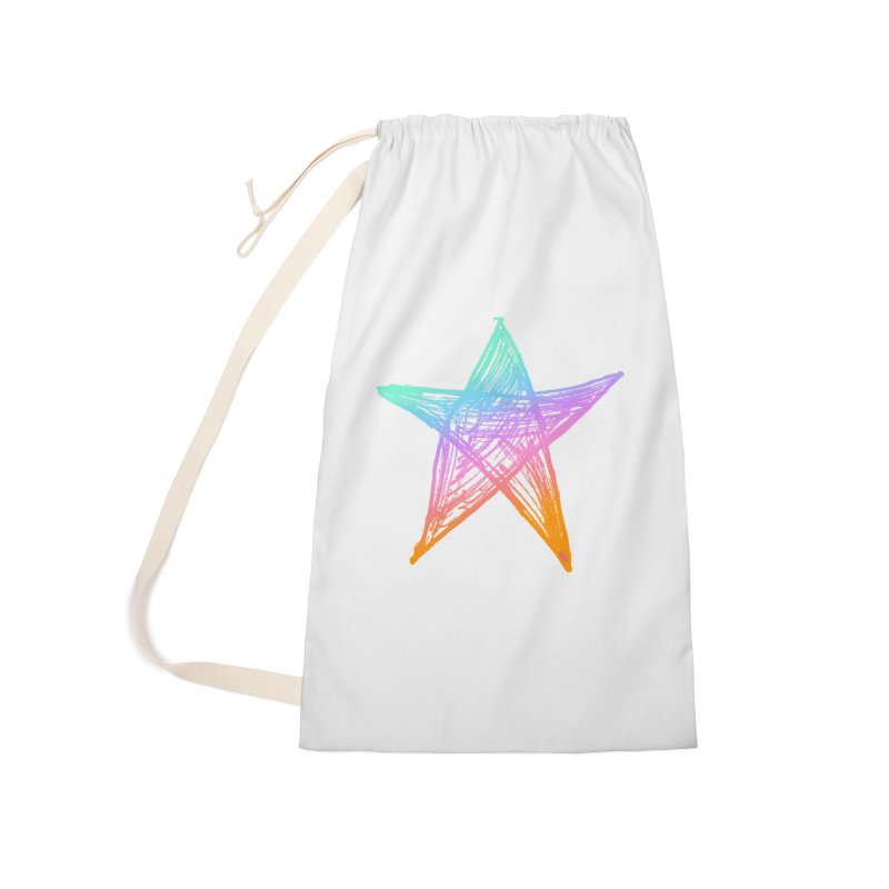 Like A Star Accessories Laundry Bag Bag by uniquego's Artist Shop