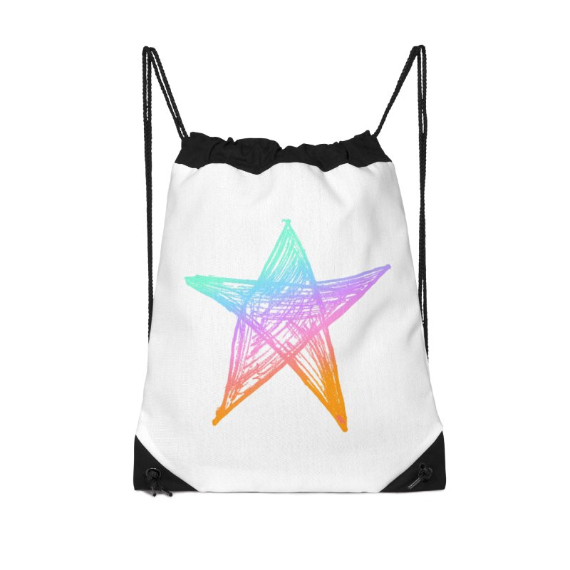 Like A Star Accessories Drawstring Bag Bag by uniquego's Artist Shop