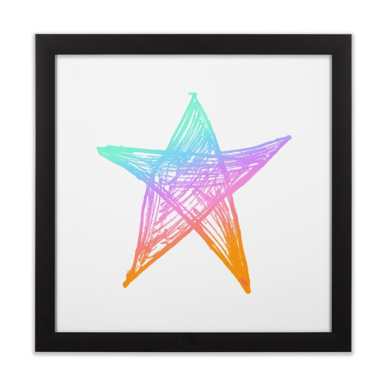 Like A Star Home Framed Fine Art Print by uniquego's Artist Shop