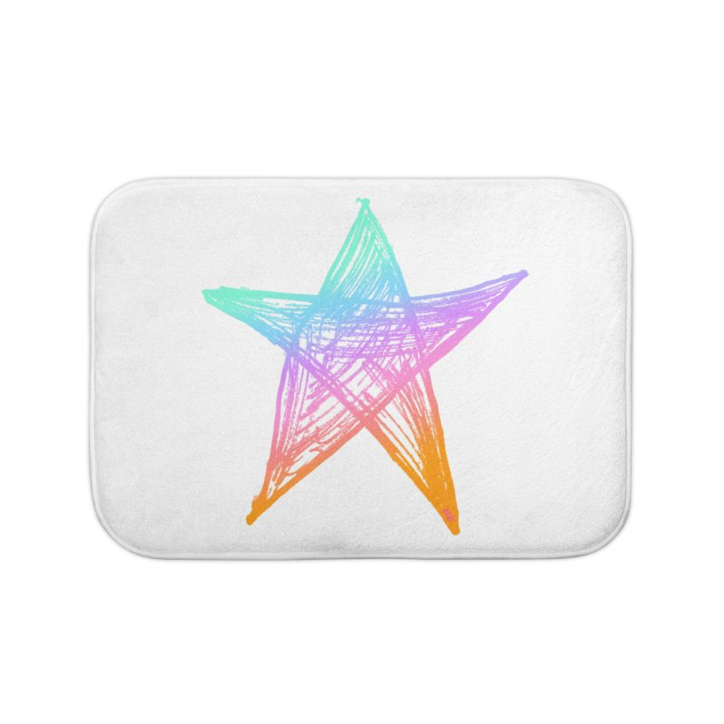 Like A Star Home Bath Mat by uniquego's Artist Shop