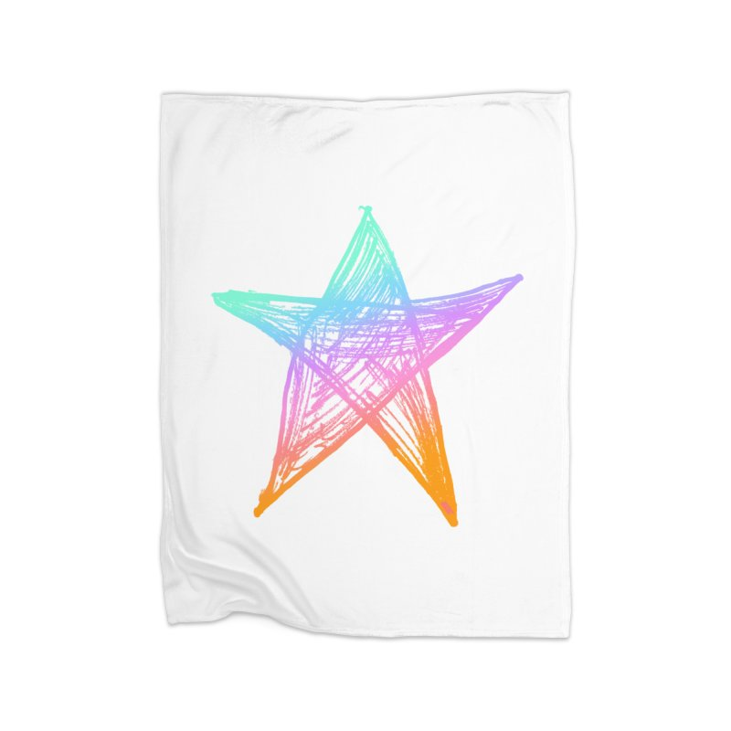 Like A Star Home Fleece Blanket Blanket by uniquego's Artist Shop