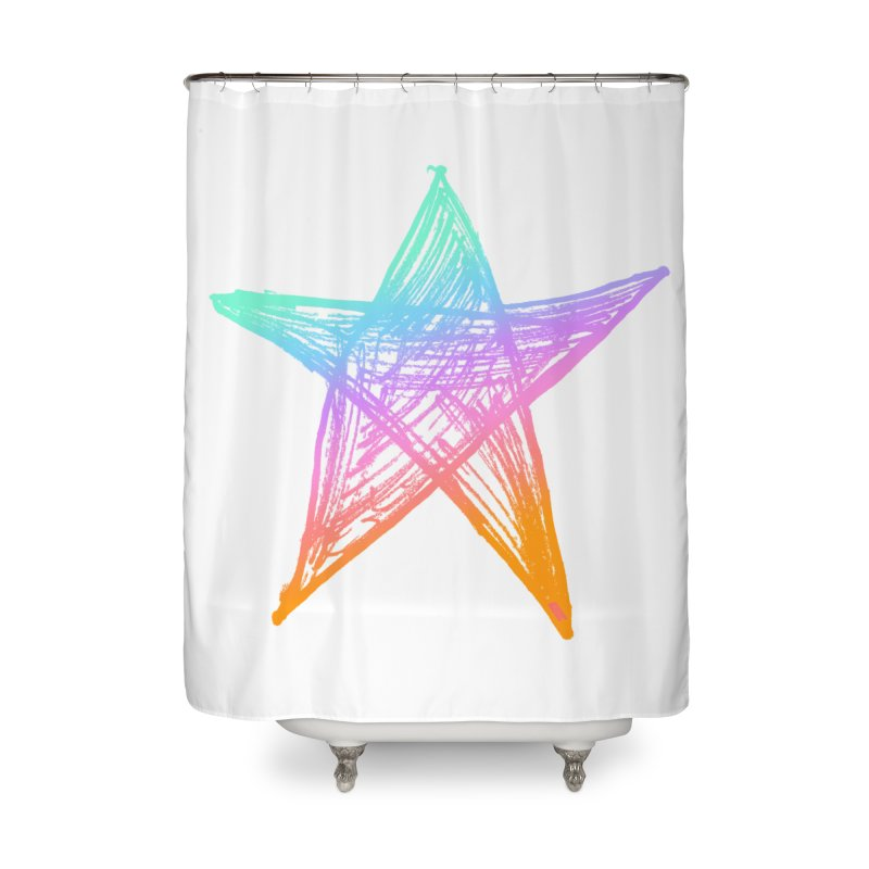 Like A Star Home Shower Curtain by uniquego's Artist Shop