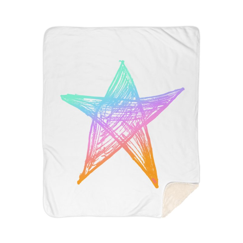 Like A Star Home Sherpa Blanket Blanket by uniquego's Artist Shop