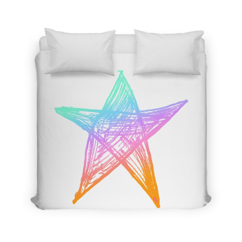 Like A Star Home Duvet by uniquego's Artist Shop