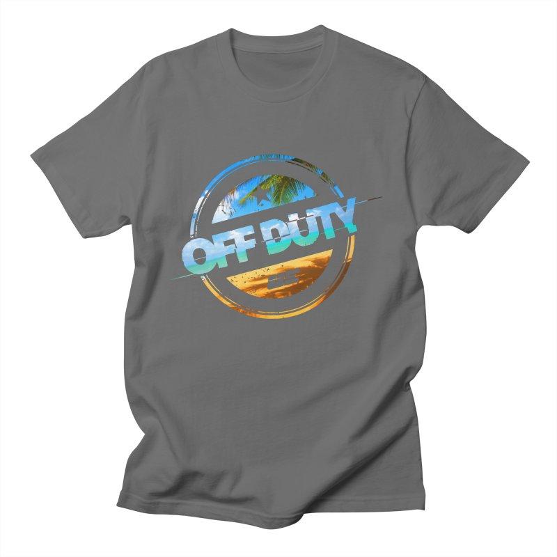 Off Duty - Beach Edition Men's T-Shirt by uniquego's Artist Shop