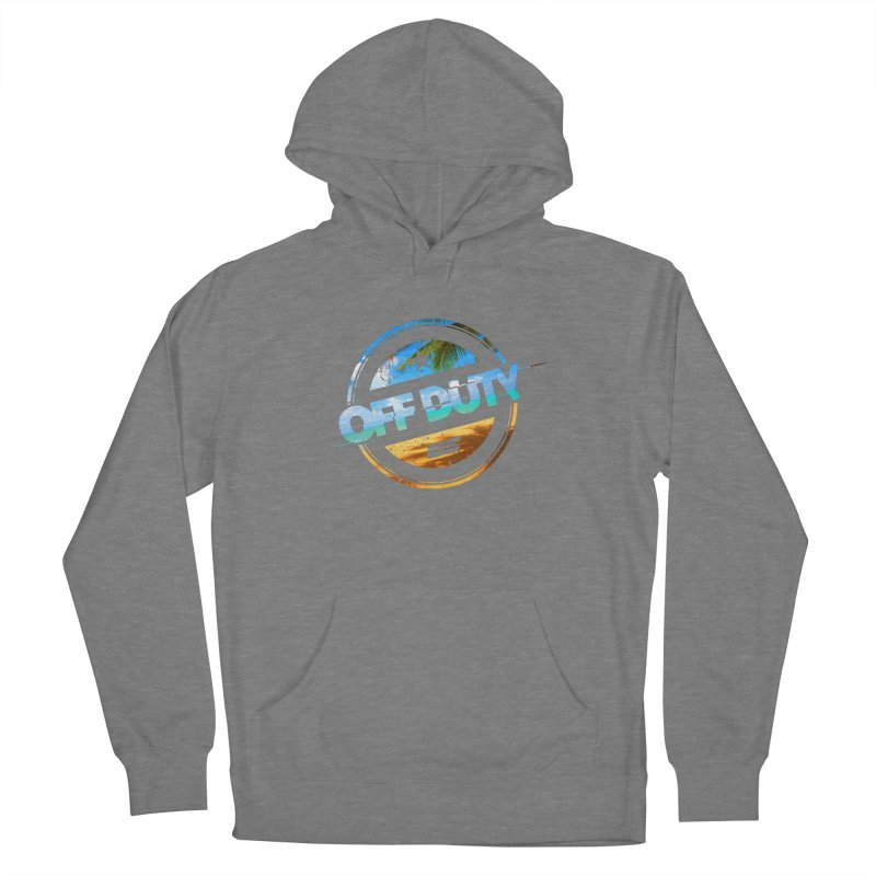 Off Duty - Beach Edition Men's French Terry Pullover Hoody by uniquego's Artist Shop