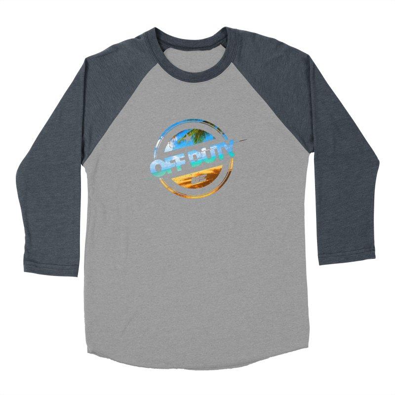 Off Duty - Beach Edition Men's Baseball Triblend Longsleeve T-Shirt by uniquego's Artist Shop