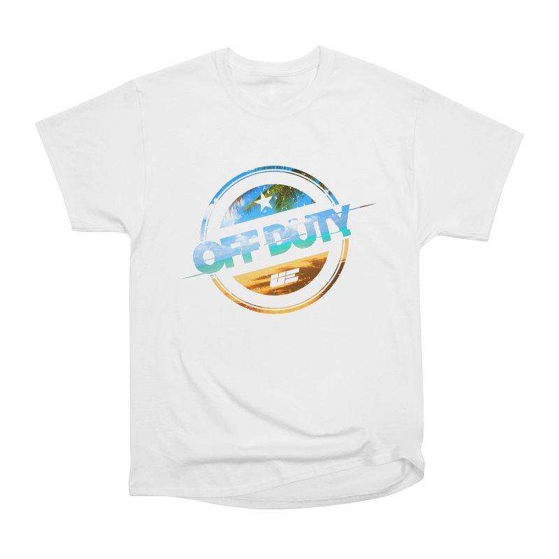 Off Duty - Beach Edition Men's Heavyweight T-Shirt by uniquego's Artist Shop