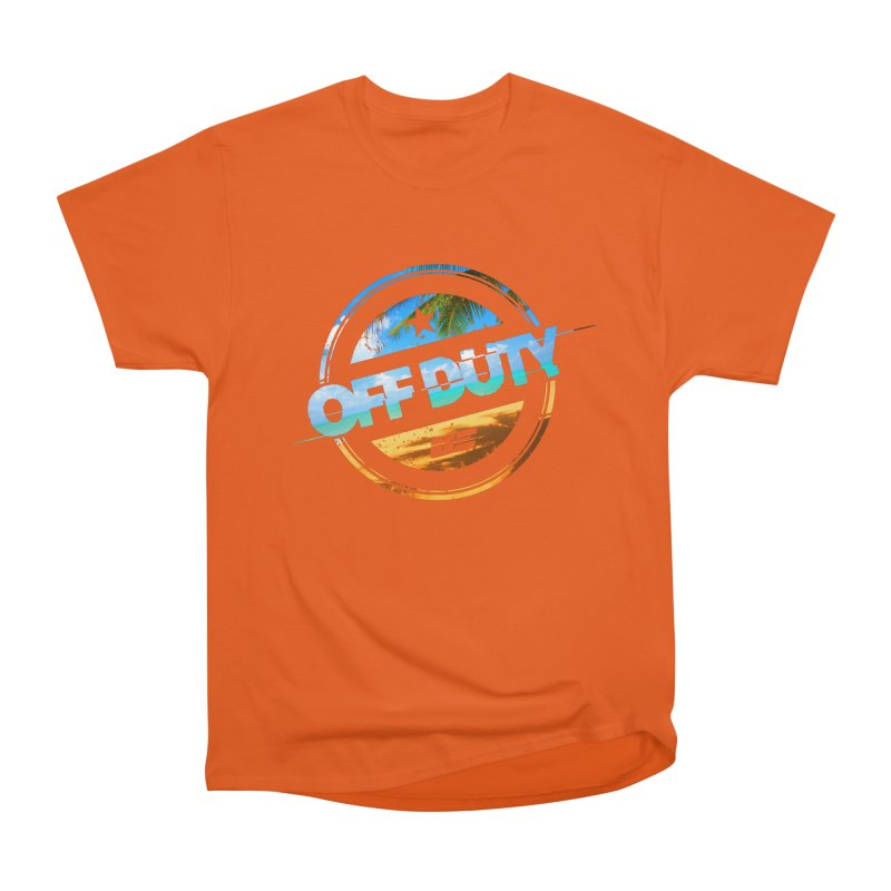 Off Duty - Beach Edition Men's Heavyweight T-Shirt by uniquego's Artist Shop