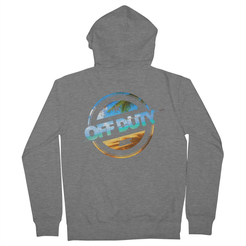 Off Duty - Beach Edition Women's Zip-Up Hoody by uniquego's Artist Shop