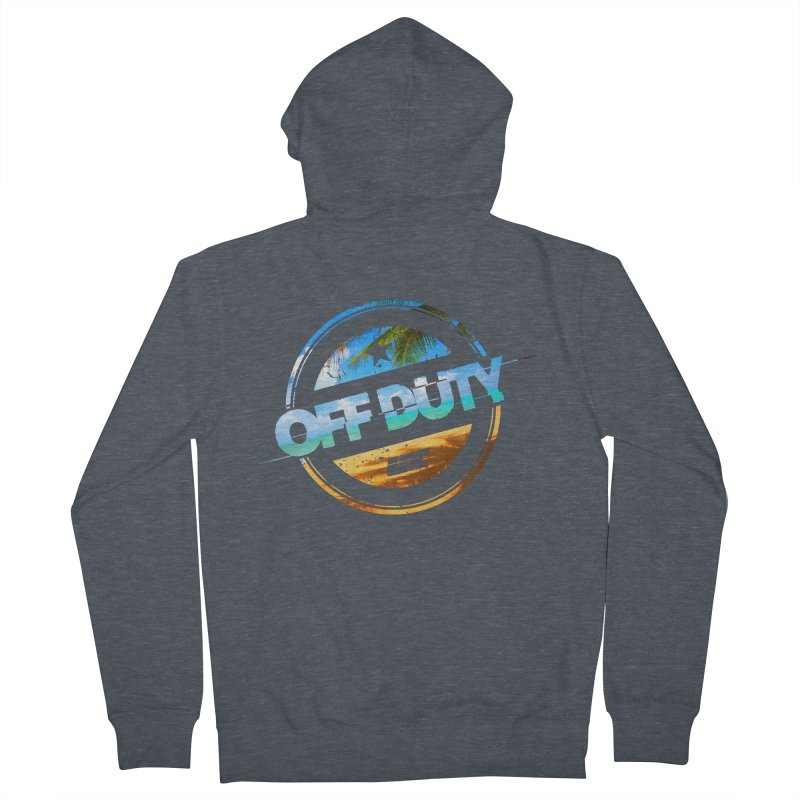 Off Duty - Beach Edition Men's French Terry Zip-Up Hoody by uniquego's Artist Shop