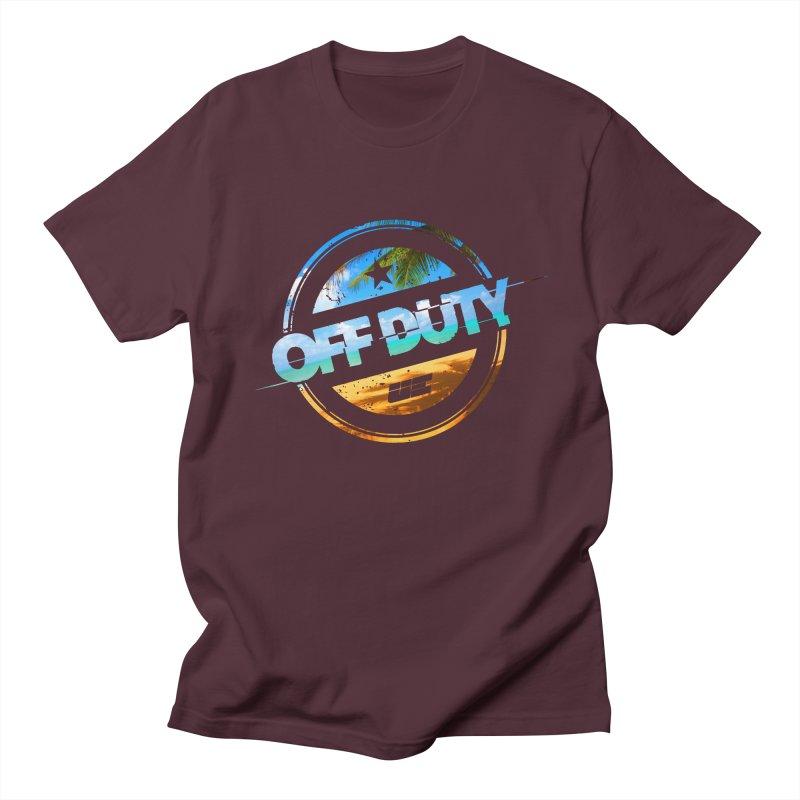 Off Duty - Beach Edition Men's Regular T-Shirt by uniquego's Artist Shop