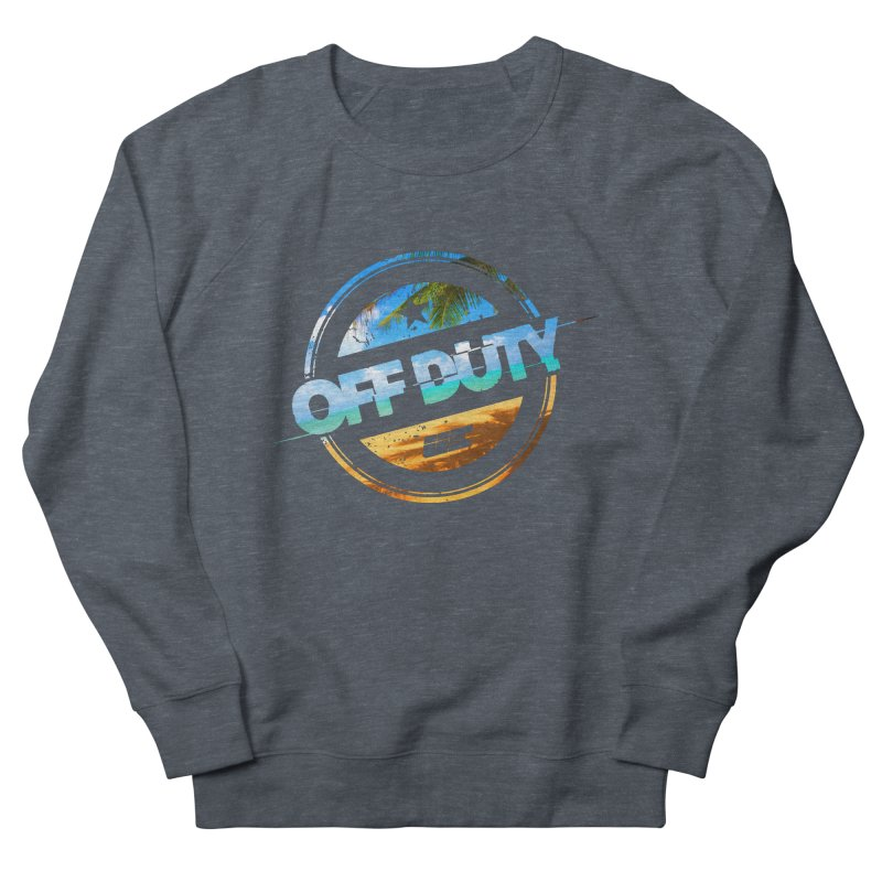 Off Duty - Beach Edition Men's French Terry Sweatshirt by uniquego's Artist Shop