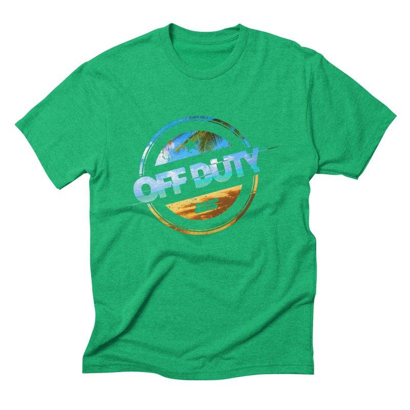 Off Duty - Beach Edition Men's Triblend T-Shirt by uniquego's Artist Shop